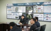 Sung-kwang Yang, the chairman of INNOPOLIS Foundation visited the site of Science Belt Base (Shindong, Doongok) to encourage the people
